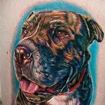 Dog on leg Tattoo Design Thumbnail